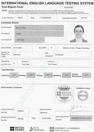 Best IELTS test result August 2009