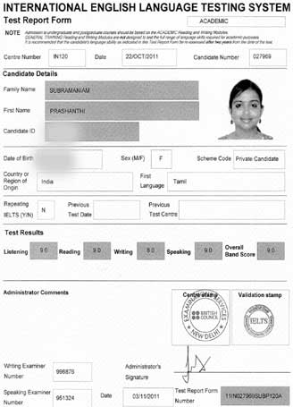 online ielts sample test
