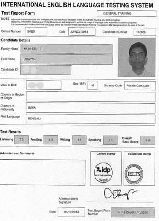 Best IELTS test result December 2014