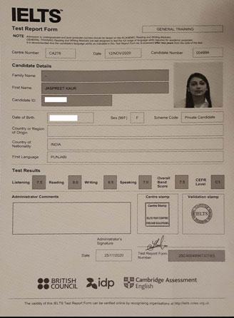 Best IELTS test result December 2020