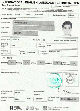 Best IELTS test result February 2010