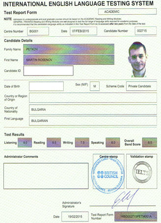 Best IELTS test result February 2015