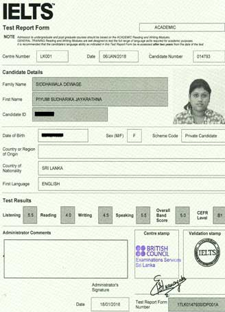 Best IELTS test result February 2018