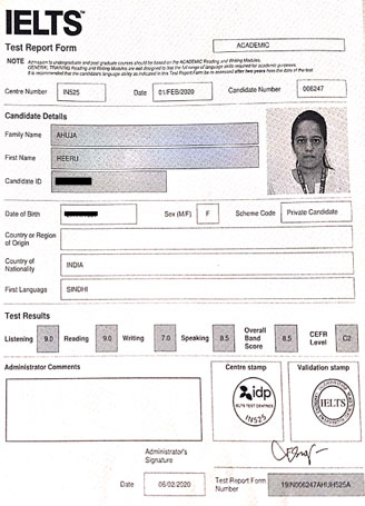 Best IELTS test result February 2020