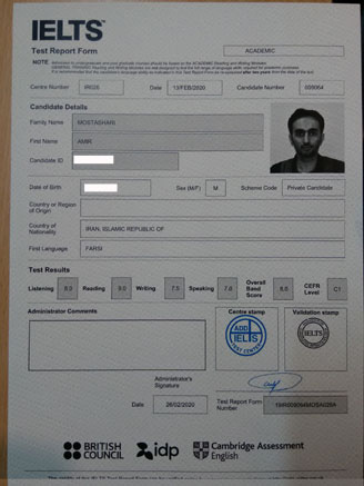 Best IELTS test result March 2020