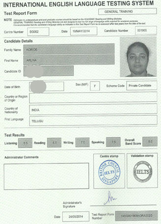 Best IELTS test result May 2014