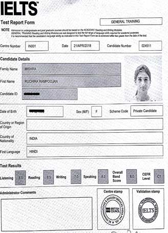 Best IELTS test result May 2018