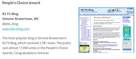 Best Australian Blogs 2014 People's Choice Award