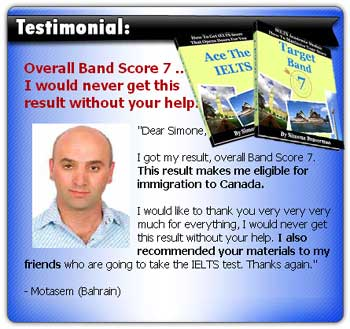 IELTS Books testimonial