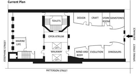 Current ground floor plan of a museum, writing task 1  from Target Band 7 book