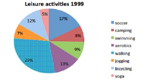 Leisure activities pie-chart